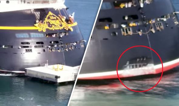 WATCH: Dramatic moment Disney cruise ship crashes into metal pier