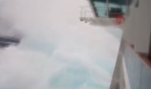 cruise ship storm video