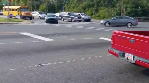 viral video bad driver crash
