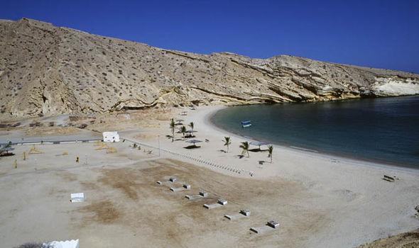 Sand beach near Muscat, Oman