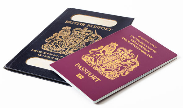 British blue passports