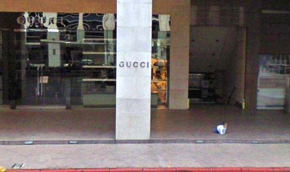 Google Maps: Disturbing sighting captured on Street View outside Gucci store