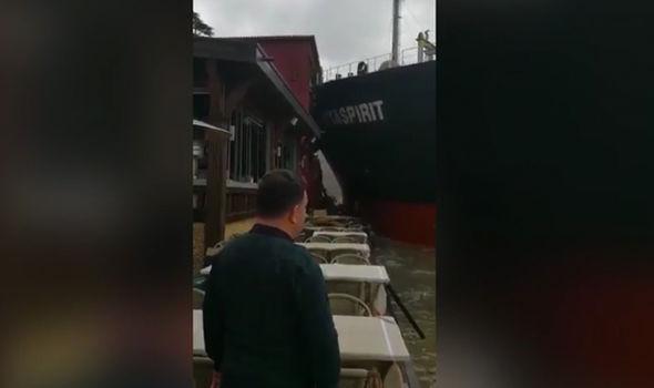 Tanker ship crash Istanbul