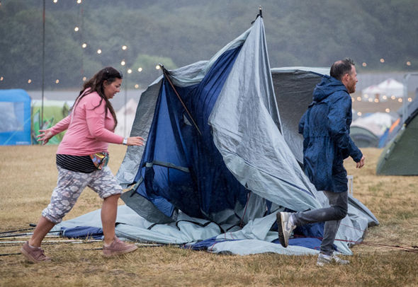 Camp Bestival: tents destroyed