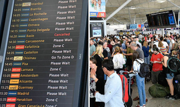 Stansted Airport chaos: Travellers hit by delays