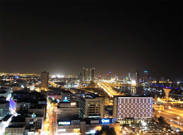 View from Downtown Rotana rooftop bar